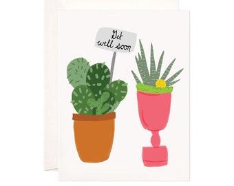Encouragement Card: Handmade Get Well Soon Greeting Card