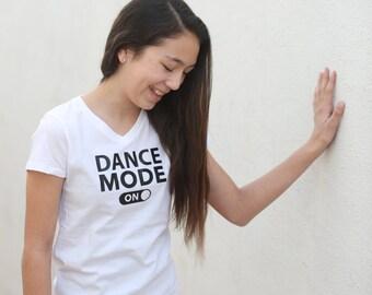 Dance Mode On V-neck T-shirt