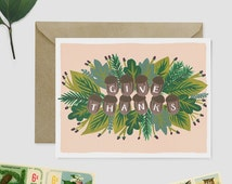 Give Thanks Card Set - Thanksgiving Card Set Boxed Cards