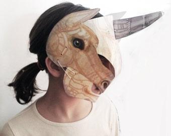 Maschera 3d Unicorno