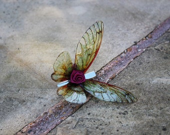 Beautiful Rose Gold - Fairy Wing Hair Clip