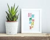 The Sound of Music Print, Typography Wall Art, Do Re Mi Fa So La Ti Do, Typography Poster