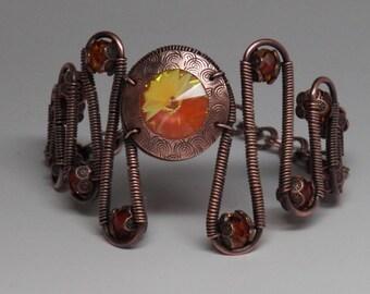 Tutorial Zig Zag Wire Wrapped Bracelet