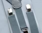 Light Grey Suspenders -- Baby Suspenders, Toddler Suspenders, Boy Suspenders, Adult Suspenders