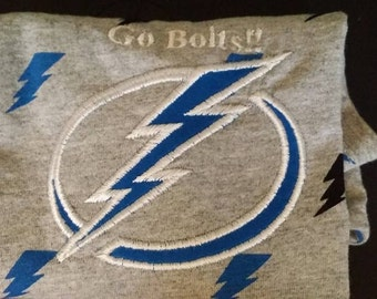 Tampa Bay Lightning Embroidery T-shirt