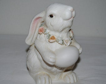 Bunny figurine, Easter, Sweet White Bunny Figurine from K. Collection. A Figurine for ANY time of the year!!