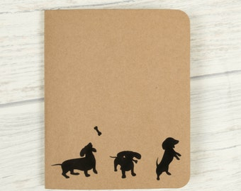 DACHSHUND Notebook, Sausage dog, Dachshund, Dog journal, Cute notebook, Small notebook, Cute stationery, Dog notebook, Notepad, Stationary