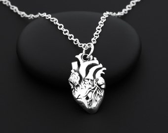 Anatomical Heart Necklace, Real Heart Necklace, Human Heart Necklace, Anatomically Correct Heart Necklace, Anatomical Heart Jewelry