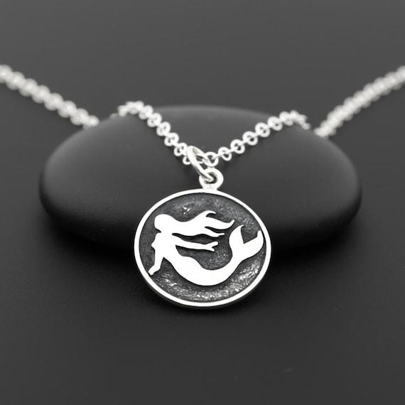 Silver Mermaid Necklace Sterling Silver Mermaid Girl
