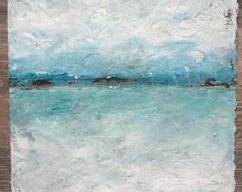 Seaside Shoreline - Mixed Media
