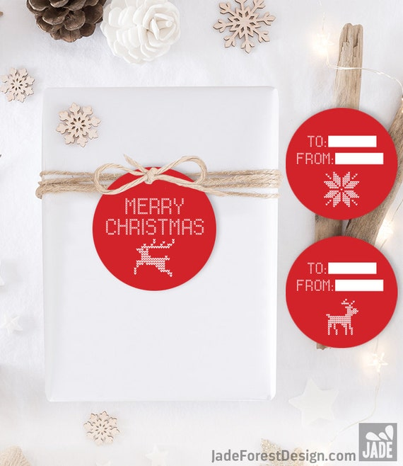 Red Gift Tag DIY