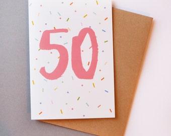 50 birthday card // Greeting card
