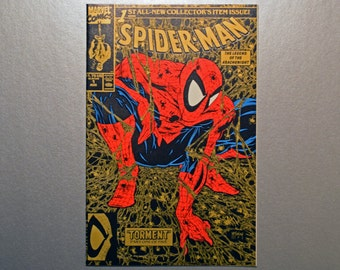 Spiderman; No.1 Marvel Comic, 2nd Print Gold edition, Grade NM+,Vintage Spiderman Comics,Todd McFarlane