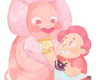 Tasty Treats Steven Universe Art Print 5x7