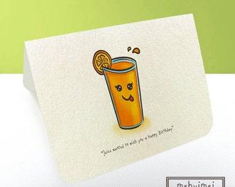 Handmade Birthday Card (Juice)