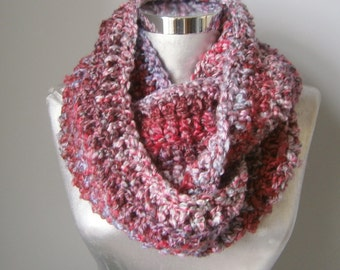 Chunky knit infinity scarf, winter scarf, knit cowl, circle scarf, softest chunky knit scarf