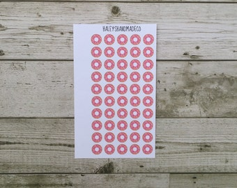 Pink Sprinkle Donut Stickers