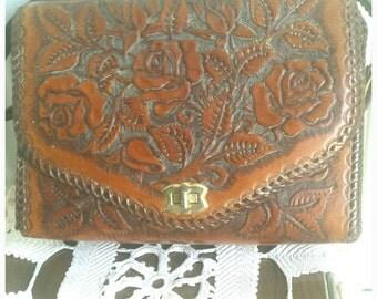 Tooled Leather 1970s Retro Bag Casual Street Fashion Accessory