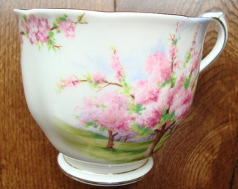 Blossom Time - Tea Cup Only - Royal Albert Bone China England - Scenic - Trees with Pink Apple Blossoms - Starter or Replacement Pieces
