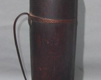 Antique Bamboo Pot Jug from Bhutan, Bhutanese Domestic Object, Folk Art Asia, FREE SHIPPING