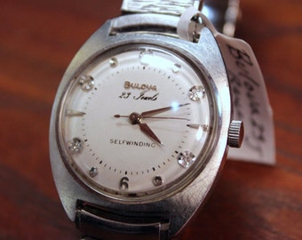 Bulova 23 Jewel Automatic Stainless Steel case Men's Watch - Layaway - See item details for more info!