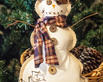 Primitive Snowman, Christmas Decor, Snowman Decor, Holiday Decor, Christmas Snowman, Frosty, Unique Snowman,  Christmas Gifts, Unique Gift