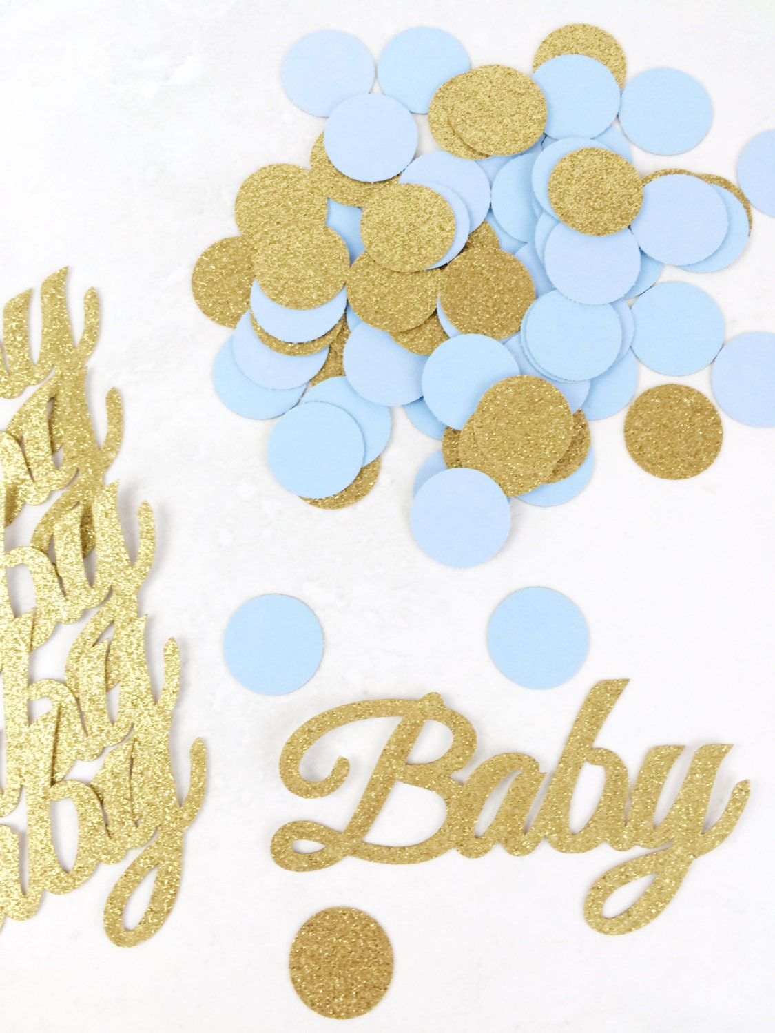 baby confetti baby shower decorations gender reveal