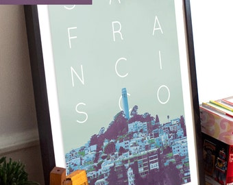 San Francisco City Poster 11x17 18x24 24x36