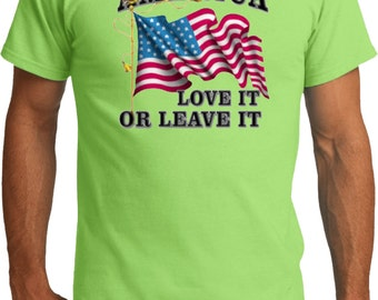 America Love It Or Leave It Mens Organic Tee T-Shirt A9738A-PC50ORG