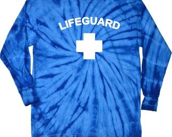 Lifeguard Adult Long Sleeve Tie Dye Tee T-Shirt LIFEGUARD-2000