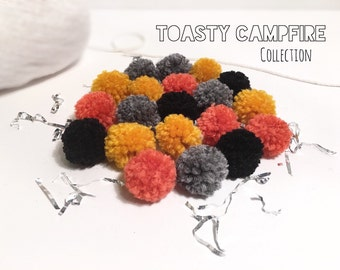 Yarn Pom Poms Bulk Set of 24 Handmade