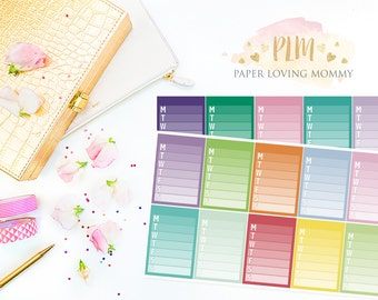 20 Sidebar Stickers | Planner Stickers designed for use with the Erin Condren Life Planner | 1101
