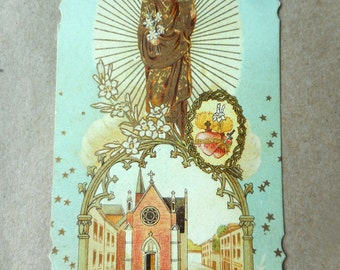 Vintage Holy card, St Joseph, Christ child, Holy Family, Dutch holy card, Catholic prayer card, Christian holy cards, Sacred Heart, Catholic