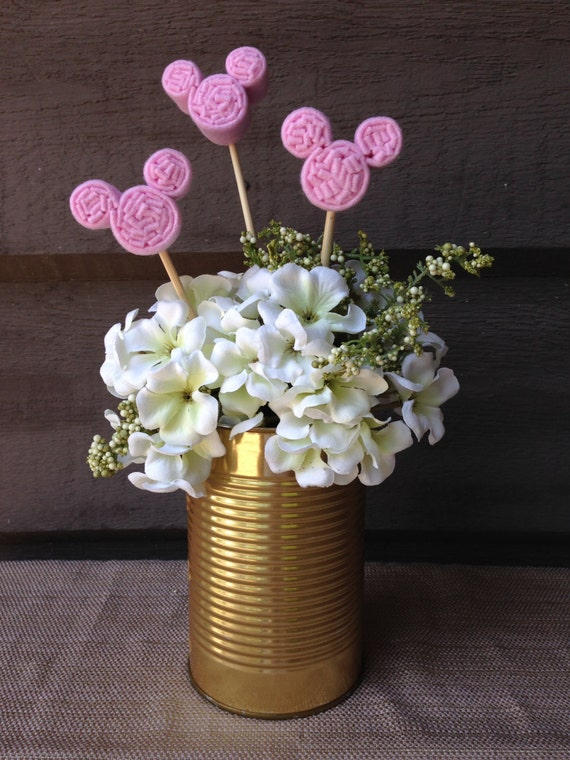 Disney wedding centerpiece mickey mouse floral embellishments