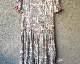 Pink paisley BGB dress
