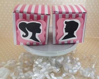 Barbie and Ken Birthday Party Mini Favor Boxes - Set of 10