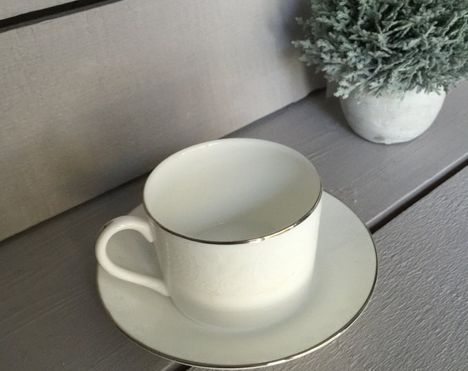 Wedgwood Petal Lattice Teacup and Saucer