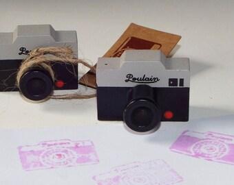 Retro Camera Rubber Stamp Wooden Vintage Camera Rubber Stamps