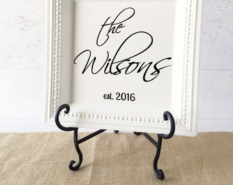 """Personalized Platter - Personalized Wedding Gift - Personalized Bridal Shower Gift - Anniversary Gift - Decorative Plate - 12.5"""" Square Dot"""