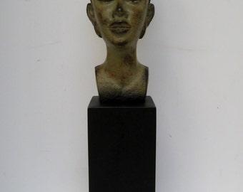 Mounted African Queen Bust