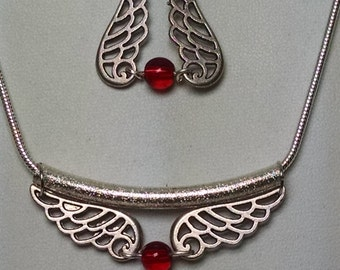 Angel Wing Reversable Necklace