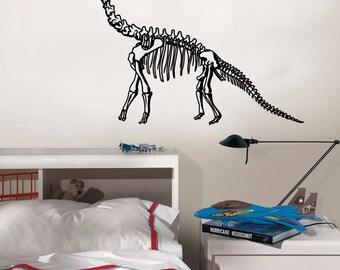Brontosaurus Dinosaur Skeleton Boys Room Décor Wall Decal