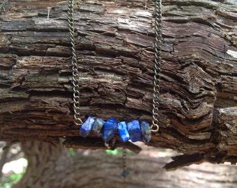 Lapis Lazuli Healing Necklace, Handmade