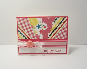 Pink Starburst Happy Day Card