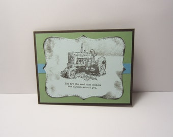 Harvest Tractor Card