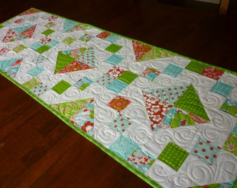 Jewel Box Pieced Table Runner