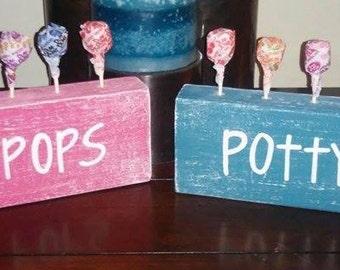 "Potty Pops- The ""sweetest"" potty training reward system!"