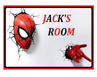Spiderman Metal Wall/ Door Hanging Sign -Sublimation Signs.