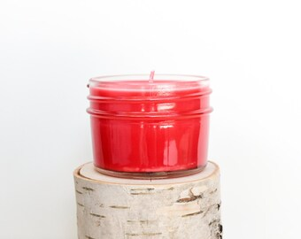 Apple Candle || Hand Poured || Organic Soy Candle // 4 oz. Jar