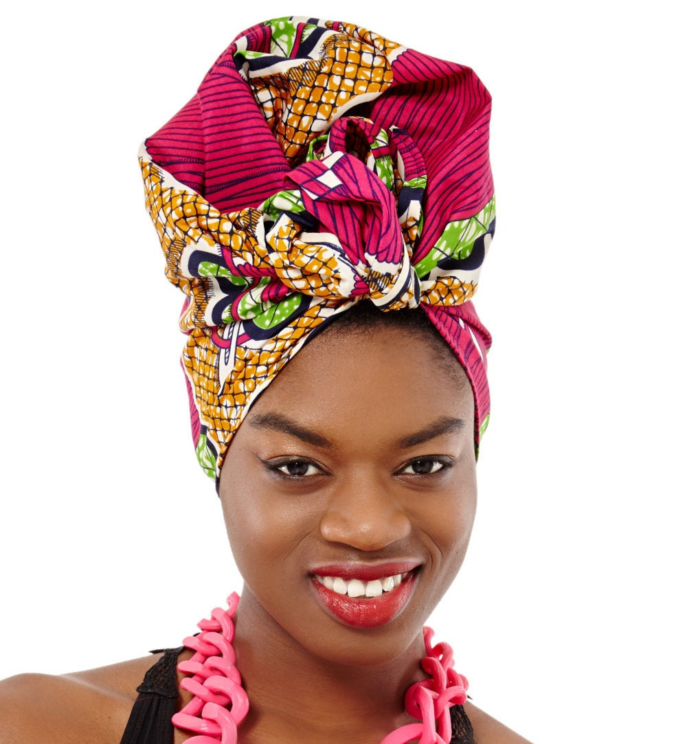 how to wear african head scarf